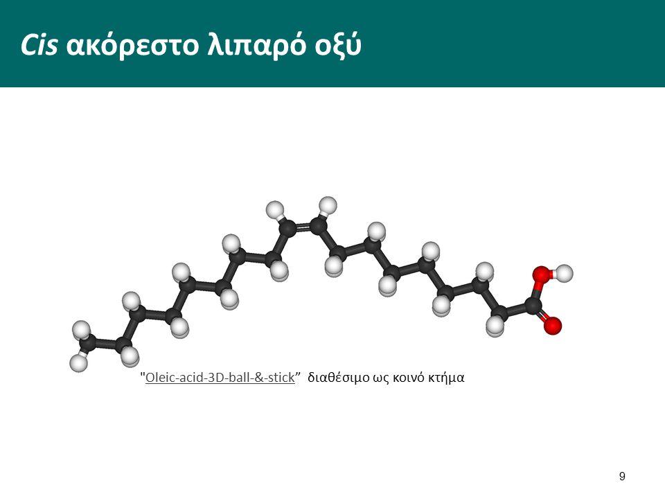 Cis ακόρεστο λιπαρό οξύ 9 Oleic-acid-3D-ball-&-stick διαθέσιμο ως κοινό κτήμαOleic-acid-3D-ball-&-stick