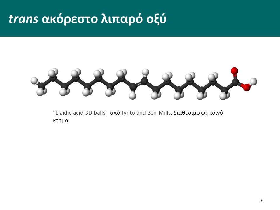 trans ακόρεστο λιπαρό οξύ 8 Elaidic-acid-3D-balls από Jynto and Ben Mills, διαθέσιμο ως κοινό κτήμαElaidic-acid-3D-ballsJynto and Ben Mills