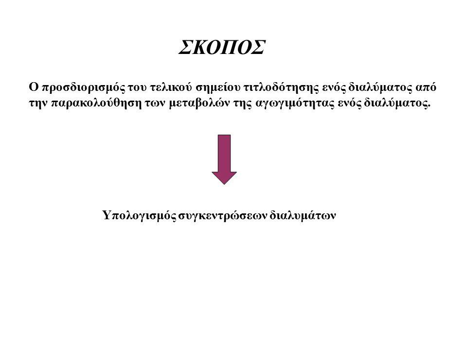 ΣΚΟΠΟΣ Ο προσδιορισμός του τελικού σημείου τιτλοδότησης ενός διαλύματος από την παρακολούθηση των μεταβολών της αγωγιμότητας ενός διαλύματος.
