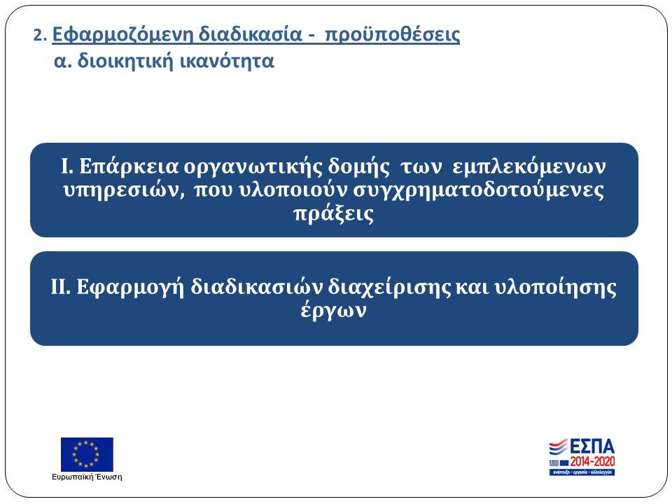 2. Εφαρμοζόμενη διαδικασία - προϋποθέσεις α. διοικητική ικανότητα Ι.