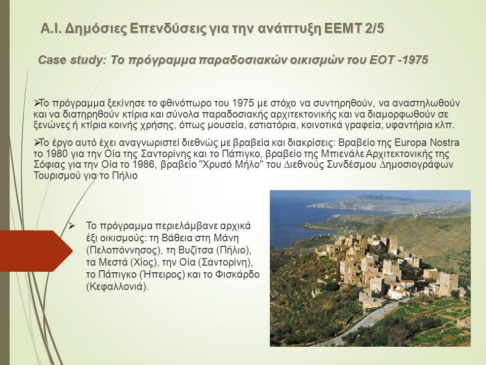  Το πρόγραµµα ξεκίνησε το φθινόπωρο του 1975 µε στόχο να συντηρηθούν, να αναστηλωθούν και να διατηρηθούν κτίρια και σύνολα παραδοσιακής αρχιτεκτονική