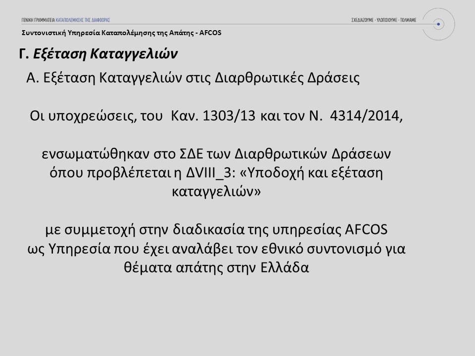 Συντονιστική Υπηρεσία Καταπολέμησης της Απάτης - AFCOS Α.