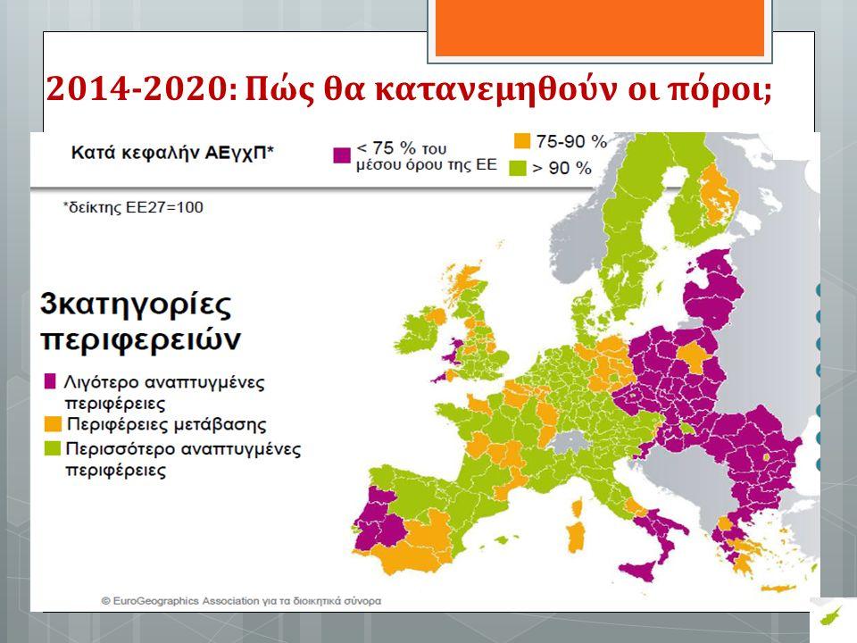 2014-2020: Πώς θα κατανεμηθούν οι πόροι;