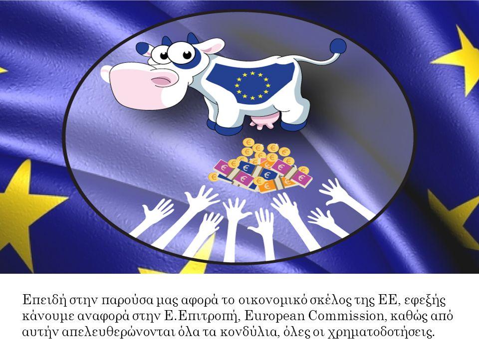 Επειδή στην παρούσα μας αφορά το οικονομικό σκέλος της ΕΕ, εφεξής κάνουμε αναφορά στην Ε.Επιτροπή, European Commission, καθώς από αυτήν απελευθερώνονται όλα τα κονδύλια, όλες οι χρηματοδοτήσεις.