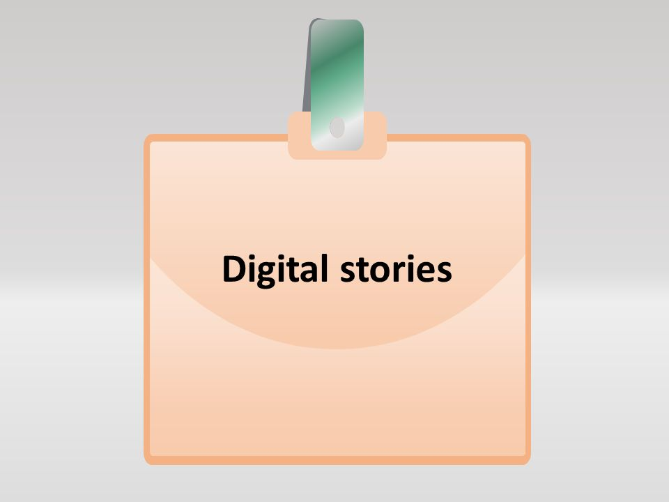 Digital stories Ψηφιακές ιστορίες Ψηφιακή αφήγηση κειμένων και αποσπασμάτων από το βιβλίο Οπτικοποίηση των κειμένων με εικόνες, βίντεο ελεύθερο δικαιωμάτων, μουσική, γραπτό κείμενο και αφήγηση, και εξαγωγή σε μορφή βίντεο Δεν συνοδεύονται με κάποιου είδους ασκήσεις Στόχος: η εξοικείωση των μαθητών με συγκεκριμένα (κυρίως δύσκολα) κείμενα