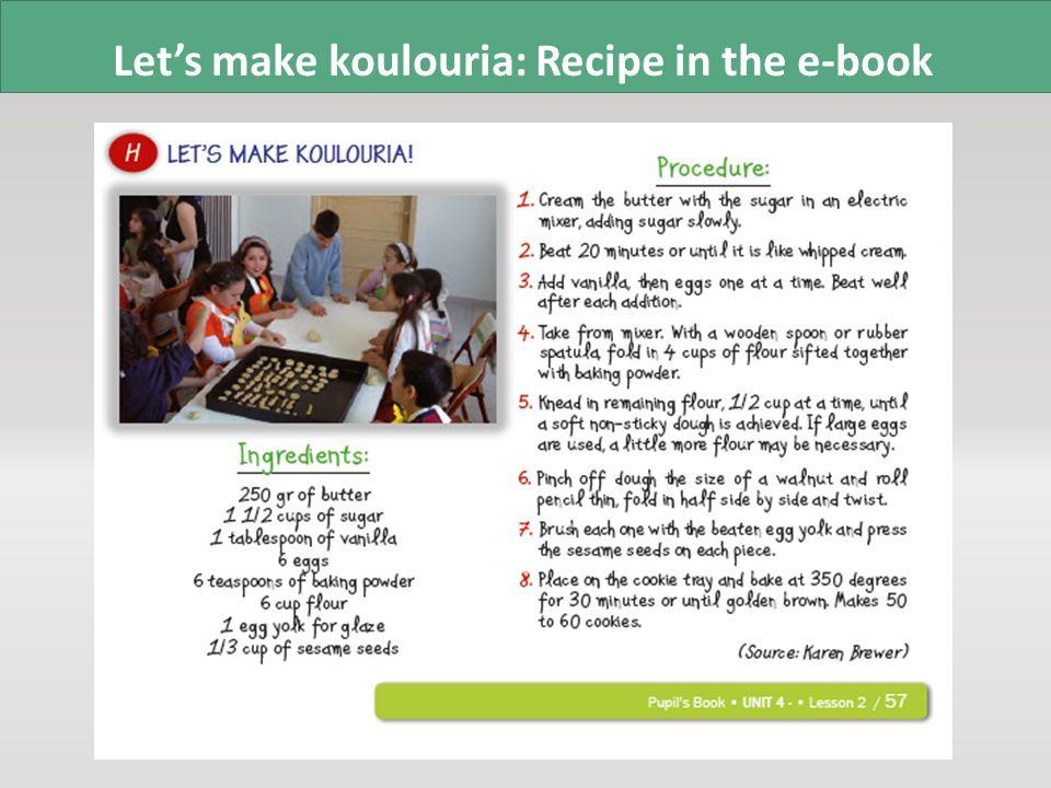 Digital story: Let's make koulouria