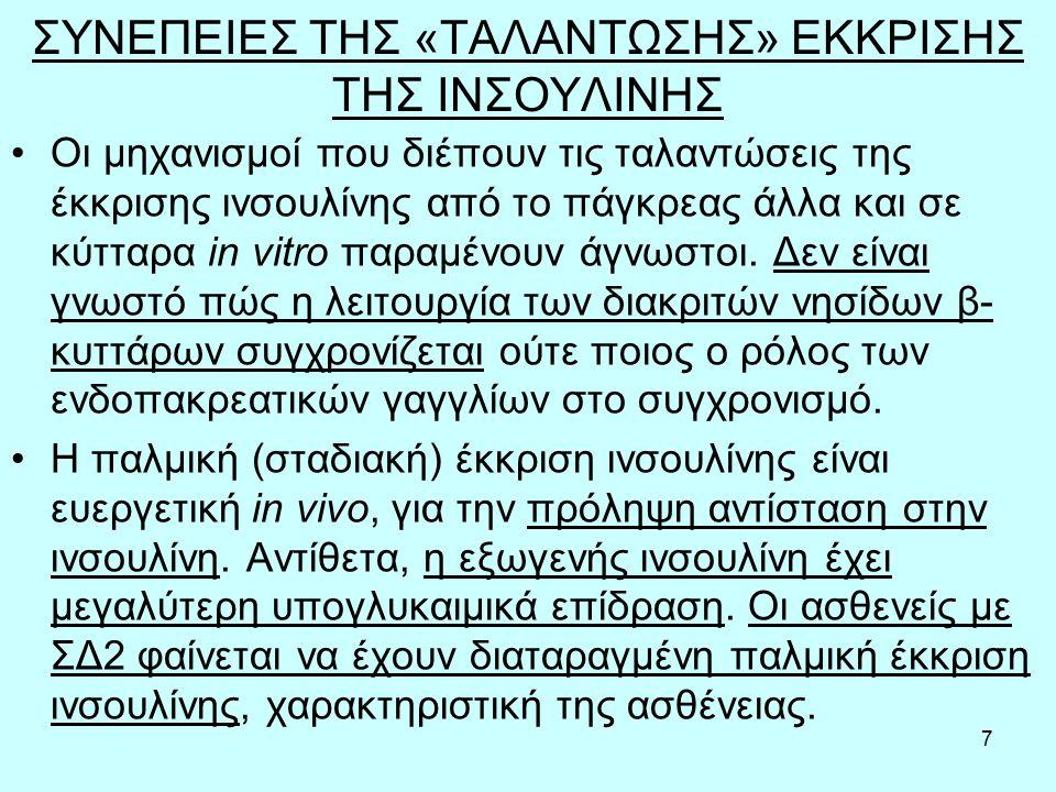8 ΣΥΝΕΠΕΙΕΣ ΤΗΣ «ΤΑΛΑΝΤΩΣΗΣ» ΕΚΚΡΙΣΗΣ ΤΗΣ ΙΝΣΟΥΛΙΝΗΣ