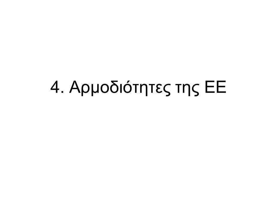 4. Αρμοδιότητες της ΕΕ