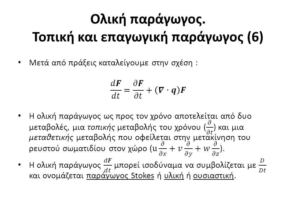 Ολική παράγωγος. Τοπική και επαγωγική παράγωγος (6)