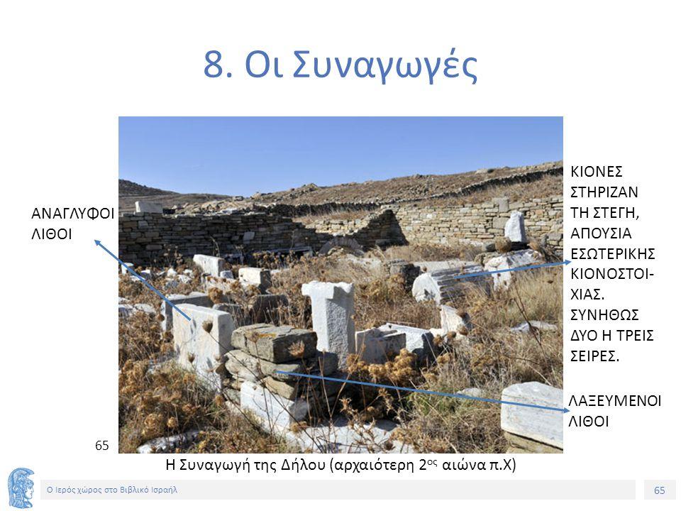 65 Ο Ιερός χώρος στο Βιβλικό Ισραήλ 8.