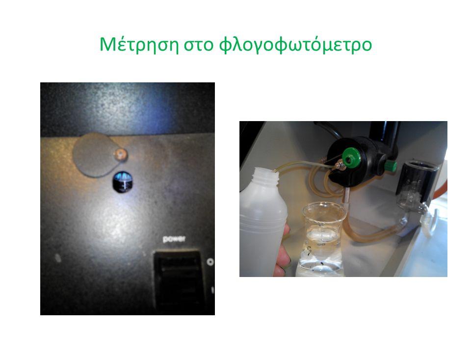 Μέτρηση στο φλογοφωτόμετρο