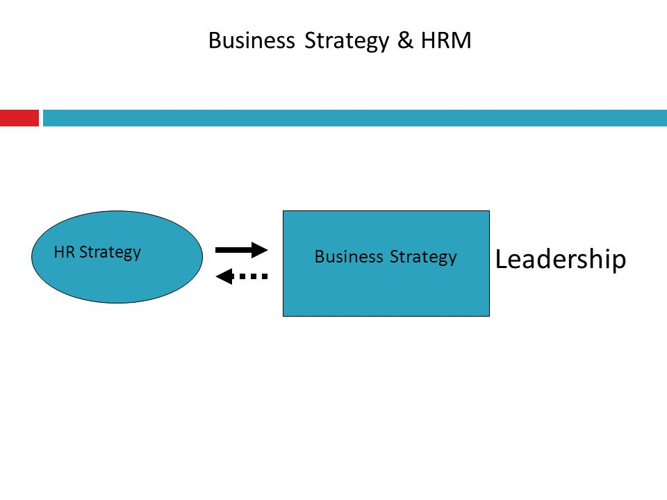 Business Strategy & HRM Leadership Business Strategy HR Strategy