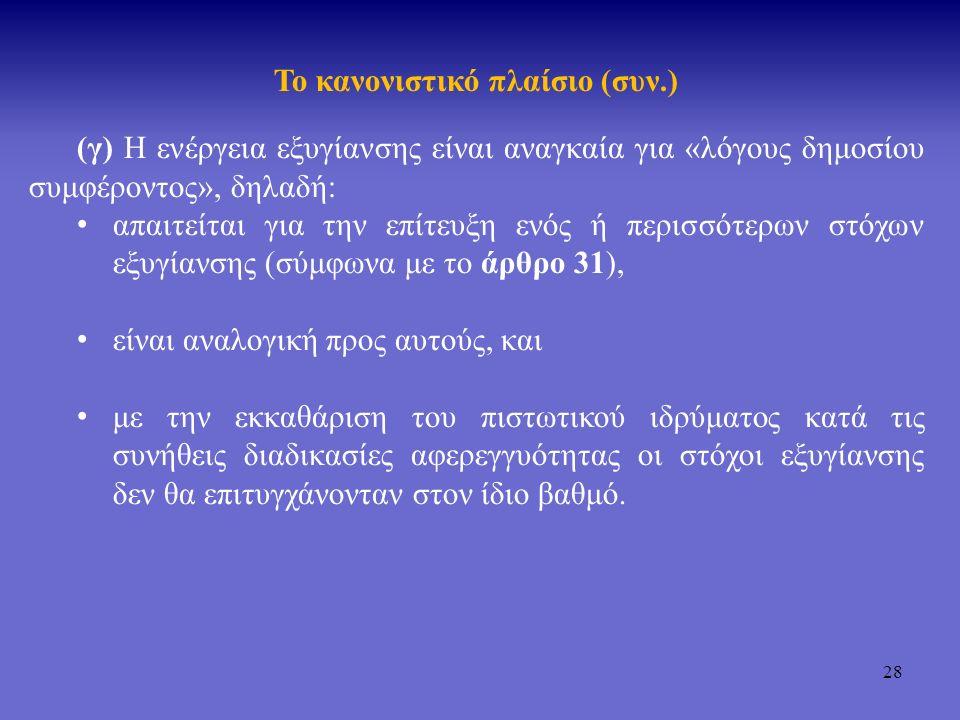 29 Το κανονιστικό πλαίσιο (συν.) 6.