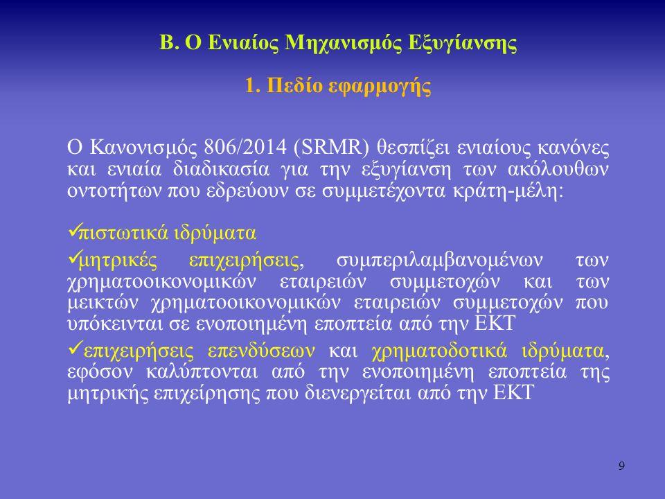 10 Ενιαίος Μηχανισμός Εξυγίανσης 1.