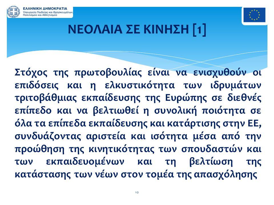 Στόχος της πρωτοβουλίας είναι να ενισχυθούν οι επιδόσεις και η ελκυστικότητα των ιδρυμάτων τριτοβάθμιας εκπαίδευσης της Ευρώπης σε διεθνές επίπεδο και