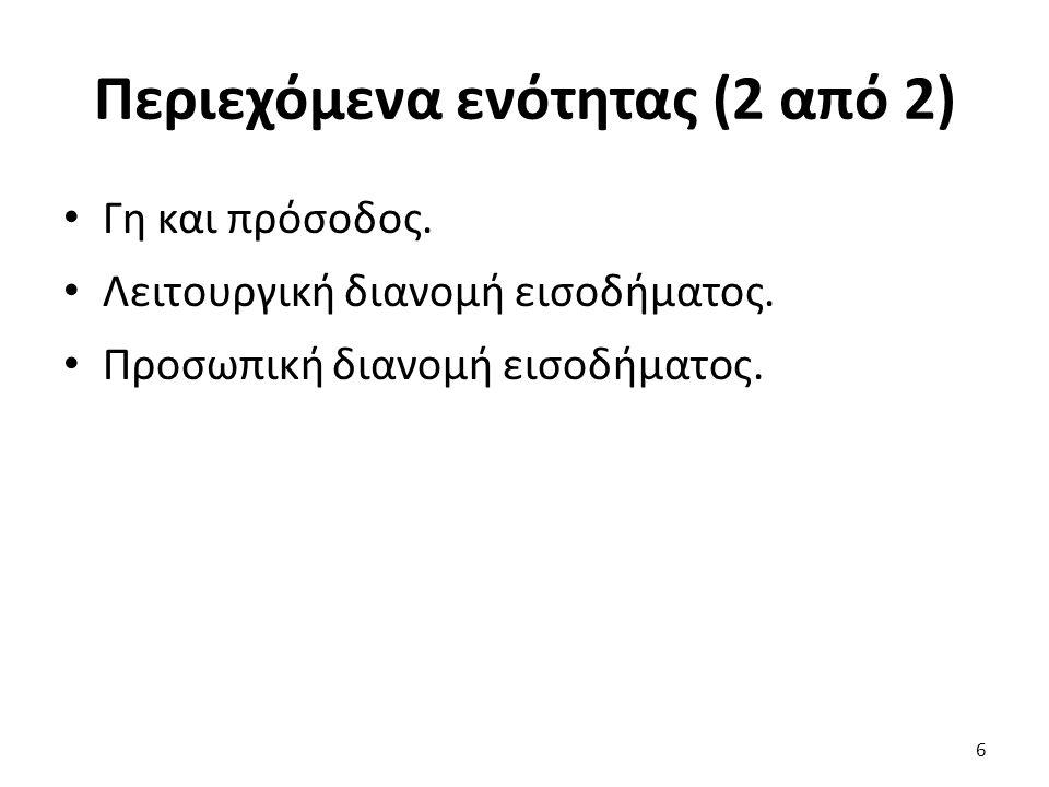 Καμπύλη προσφοράς κλάδου παραγωγής (1 από 2) Μακροχρόνια καμπύλη προφοράς μικρού κλάδου παραγωγής: οριζόντια.