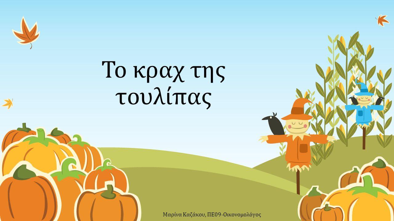 Το κραχ της τουλίπας Μαρίνα Καζάκου, ΠΕ09-Οικονομολόγος