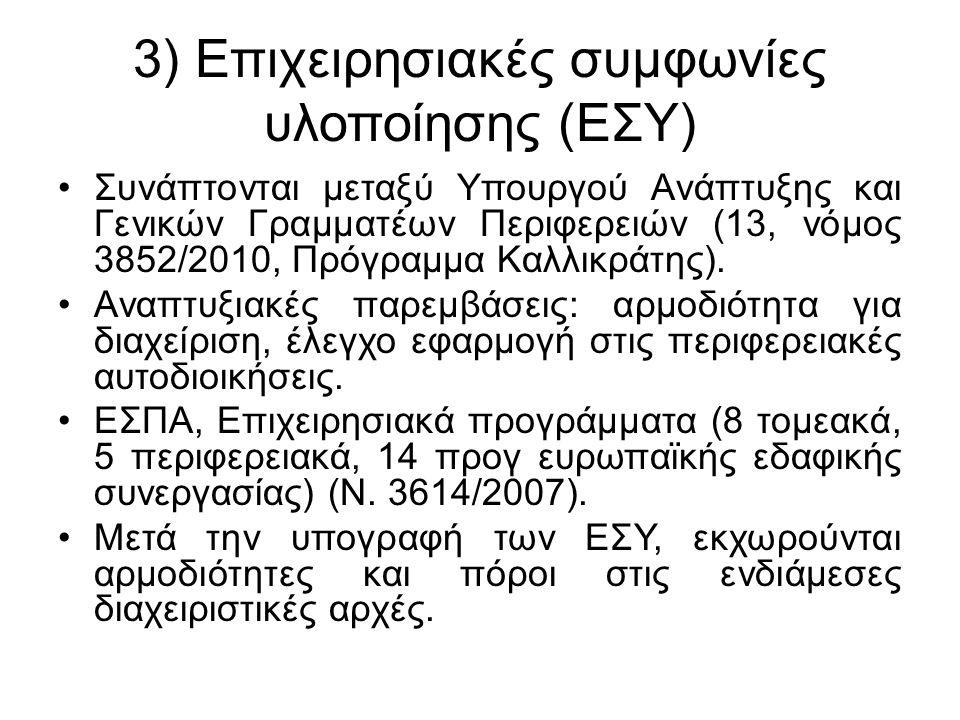 β) Τομείς 1) Συντελεστές παραγωγής: 1.1.Συντελεστής γη (χρήσεις γης, ΒΙΠΕ, μεταλλείο κατόπιν ΠΔ).