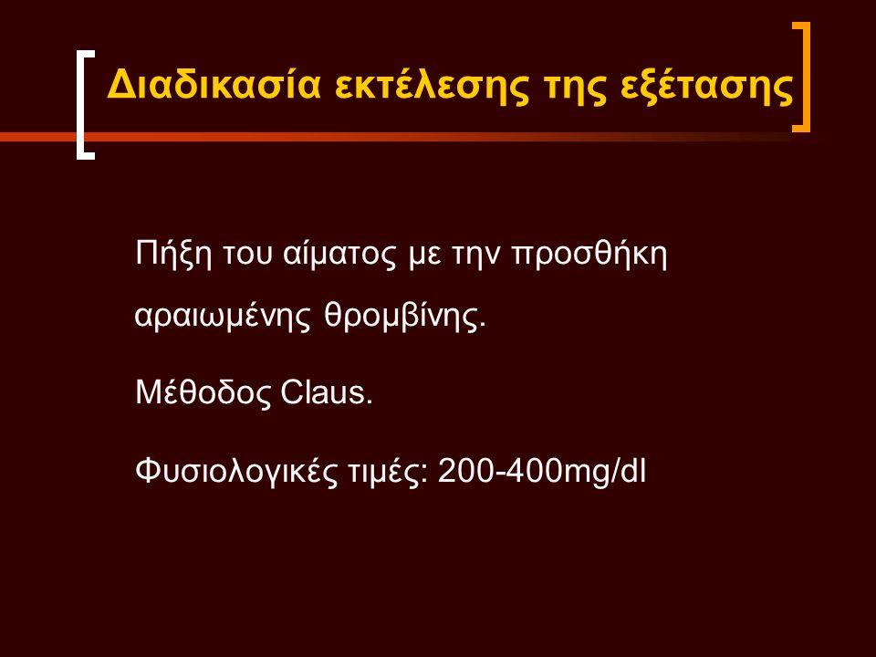 Α)Συγγενείς: Ανινωδογοναιμία Δυσινωγοναιμία Β)Επίκτητες: Μείωση παράγωγής Hπατική ανεπάρκεια Λήψη φαρμάκων Αυξημένη κατανάλωση Διάχυτη ενδαγγειακή πήξη Οξεία ινωδόλυση Μείωση των επιπέδων του ινωδογόνου