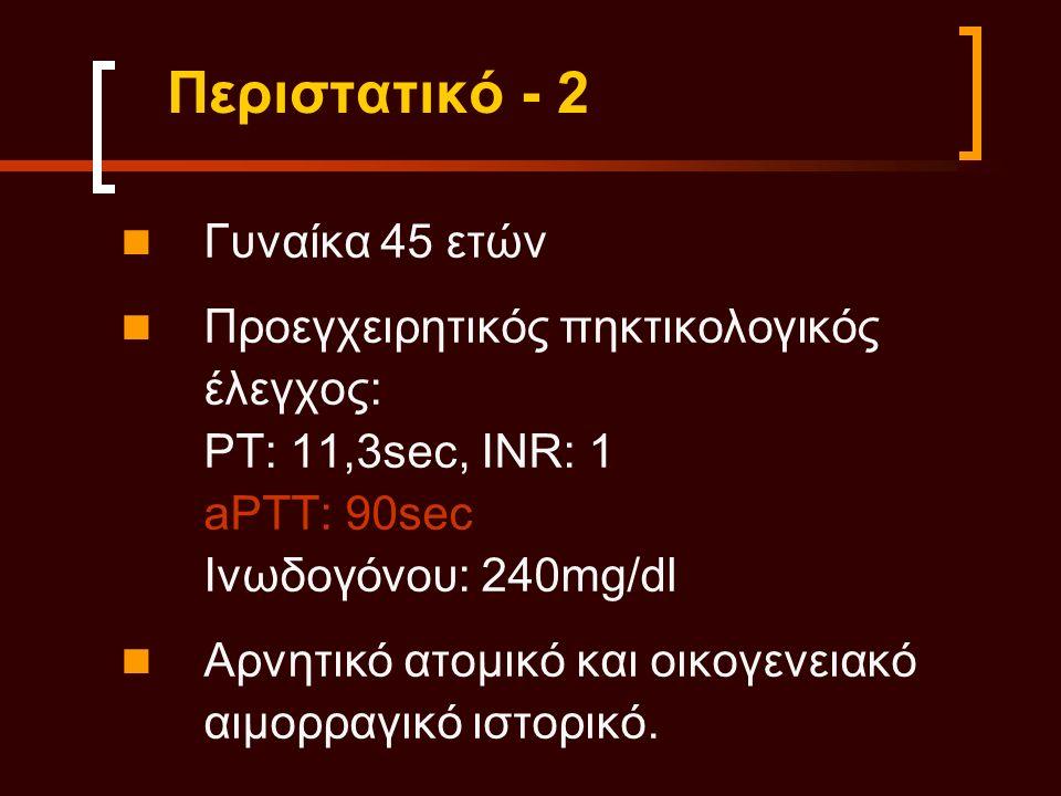 Mixing test: aPTT: 33sec FVIII:108% FIX: 96% FXI: 84% FXII: 4%