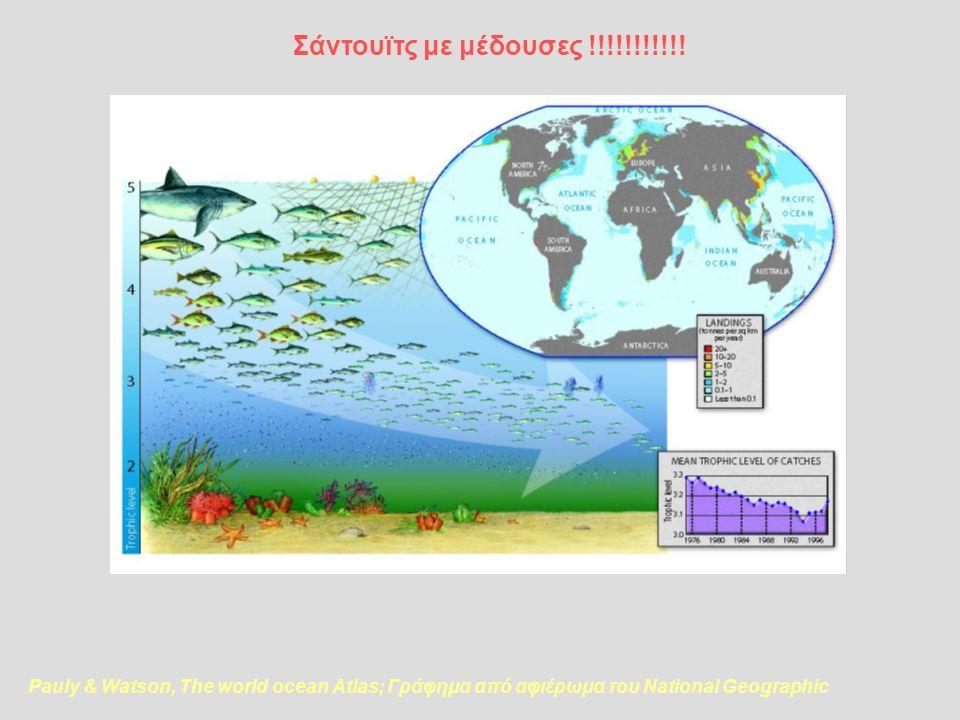 Pauly & Watson, The world ocean Atlas; Γράφημα από αφιέρωμα του National Geographic Σάντουϊτς με μέδουσες !!!!!!!!!!!