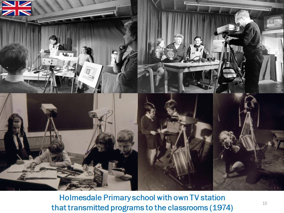 Holmesdale Primary school with own TV station that transmitted programs to the classrooms (1974) 10