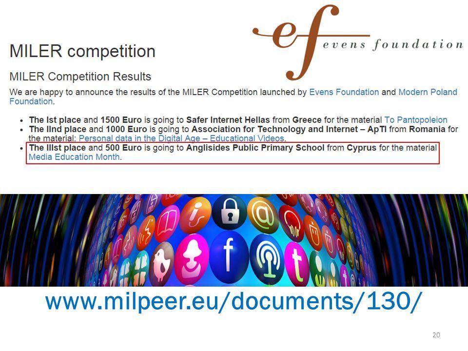 www.milpeer.eu/documents/130/ 20