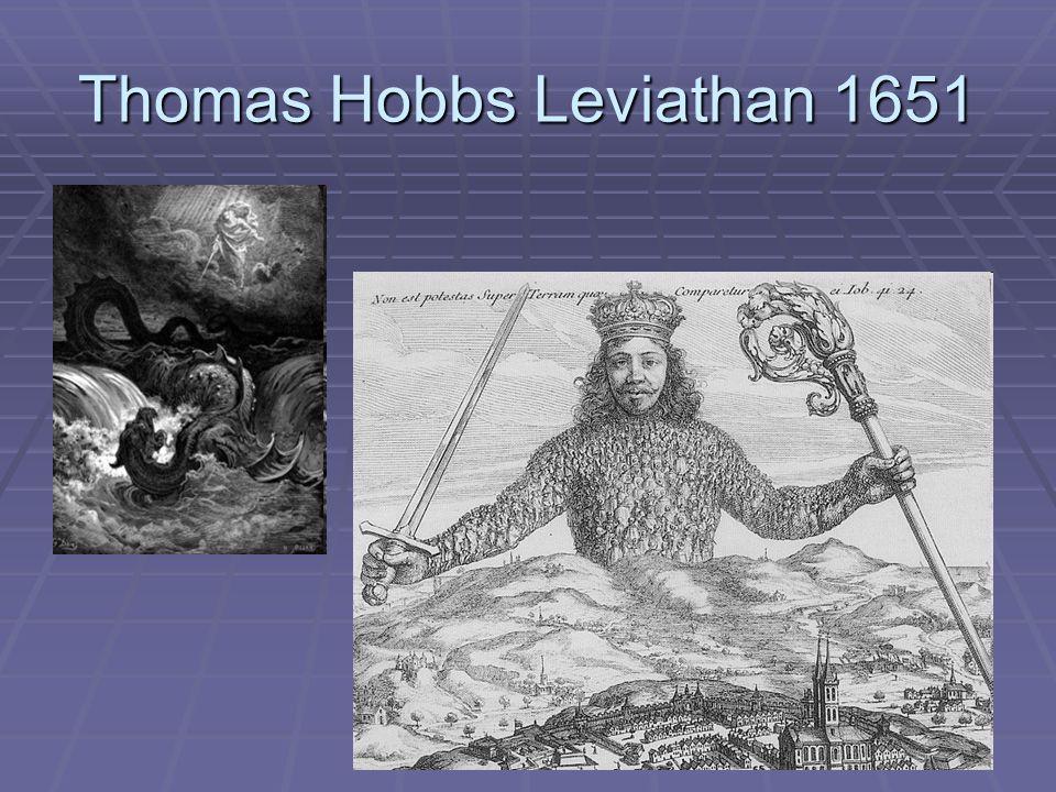 Thomas Hobbs Leviathan 1651