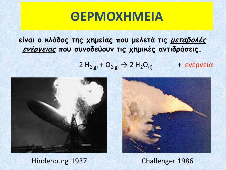 ΘΕΡΜΟΧΗΜΕΙΑ είναι ο κλάδος της χημείας που μελετά τις μεταβολές ενέργειας που συνοδεύουν τις χημικές αντιδράσεις.