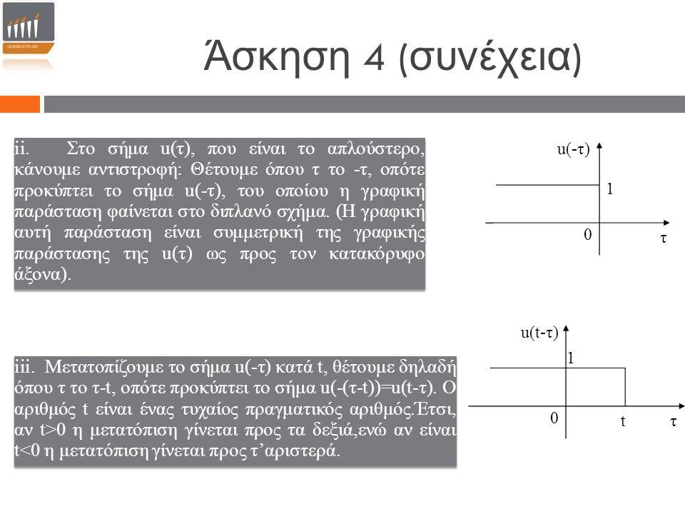 Άσκηση 4 ( συνέχεια ) ii.