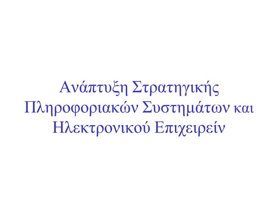 Ανάπτυξη Στρατηγικής Πληροφοριακών Συστημάτων και Ηλεκτρονικού Επιχειρείν