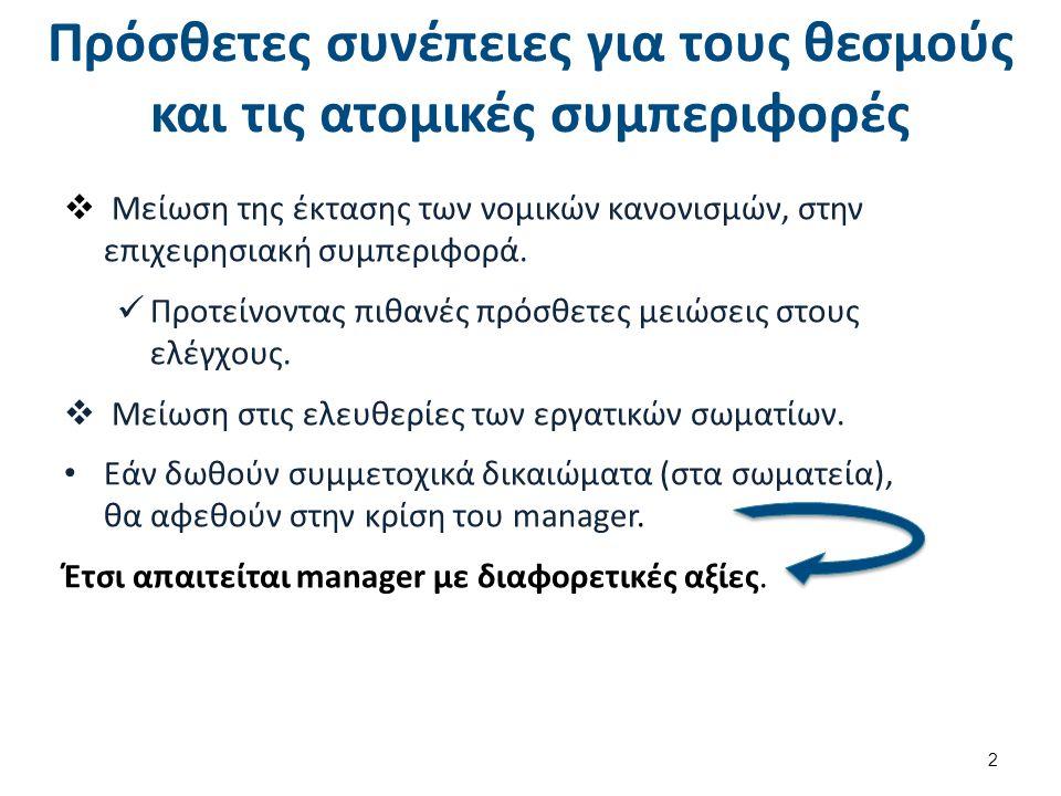 Απάντηση : Κόψιμο εξόδων.Μετατροπή εσωτερικής αγοράς εργασίας σε εξωτερική.