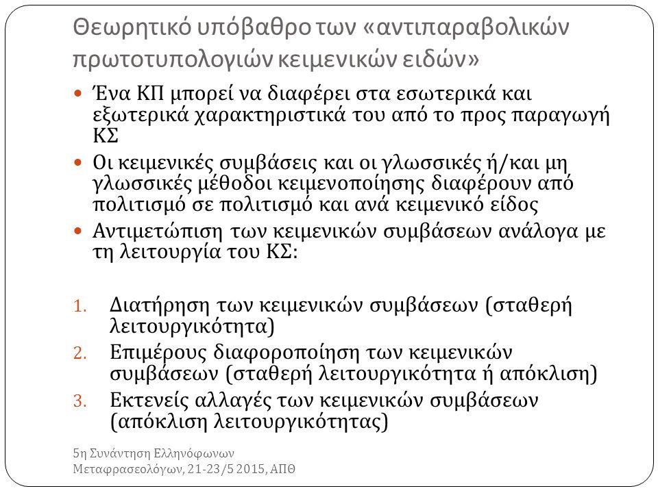 5 η Συνάντηση Ελληνόφωνων Μεταφρασεολόγων, 21-23/5 2015, ΑΠΘ ΣΑΣ ΕΥΧΑΡΙΣΤΩ ΠΟΛΥ !