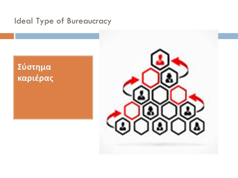 Ideal Type of Bureaucracy Σύστημα καριέρας