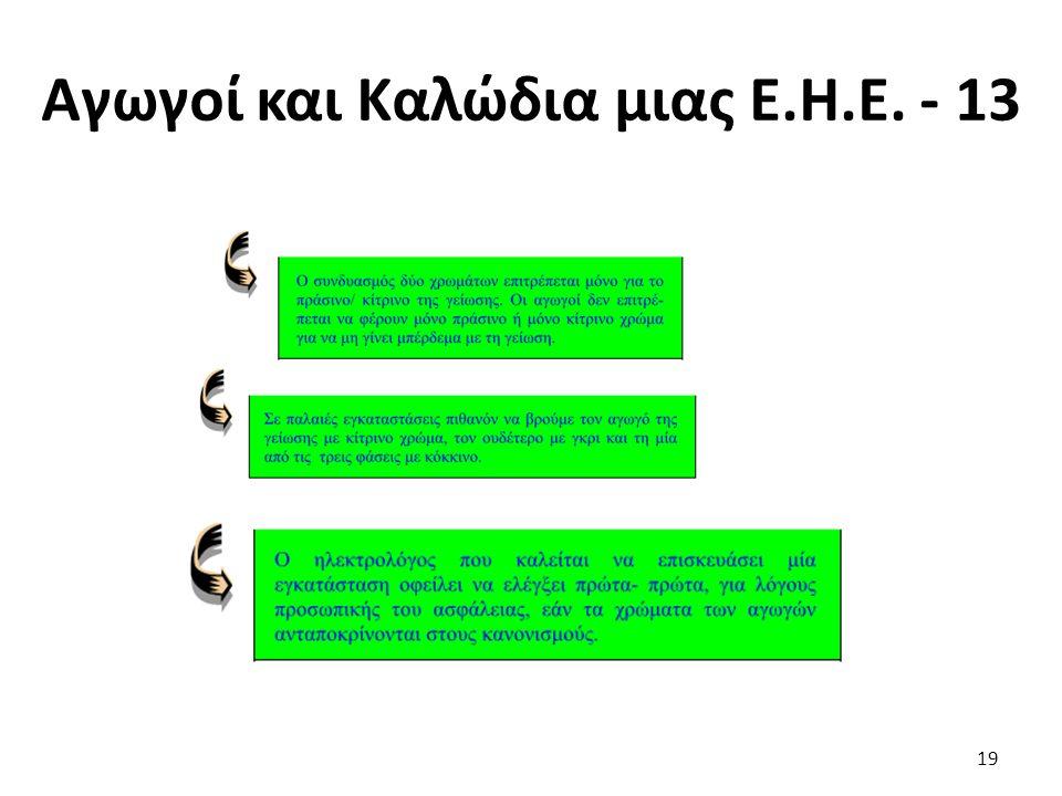 Αγωγοί και Καλώδια μιας Ε.Η.Ε. - 13 19