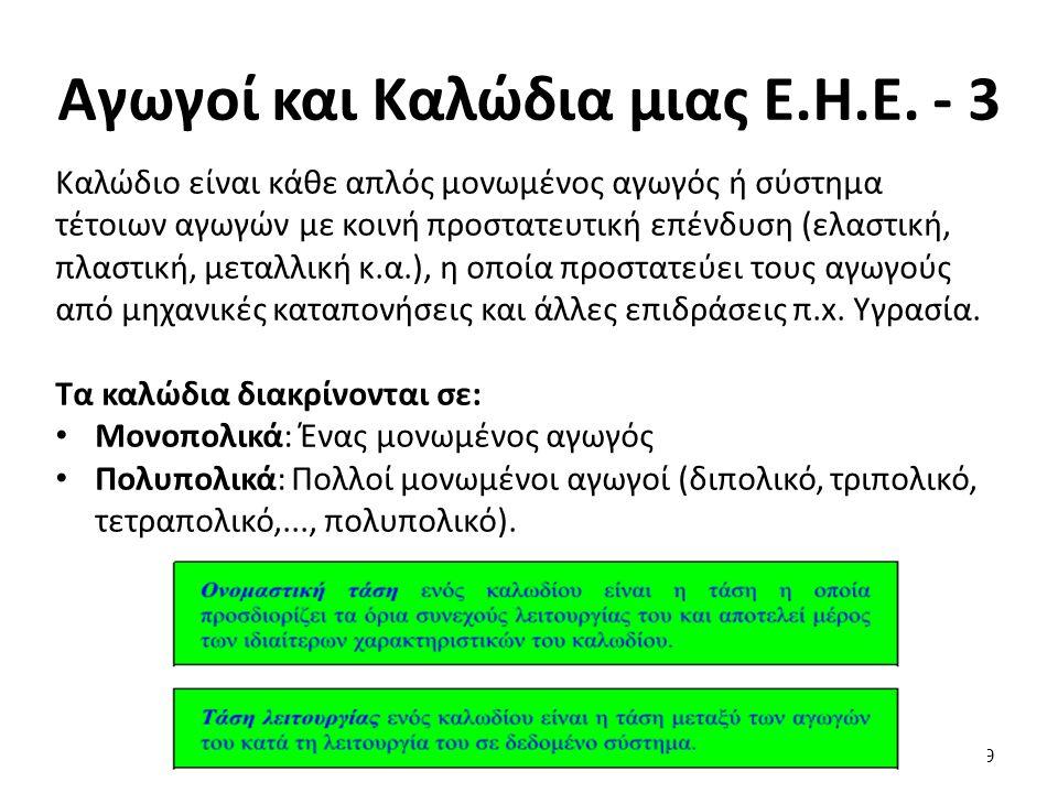 Αγωγοί και Καλώδια μιας Ε.Η.Ε. - 4 Μονωτικά Υλικά: 10