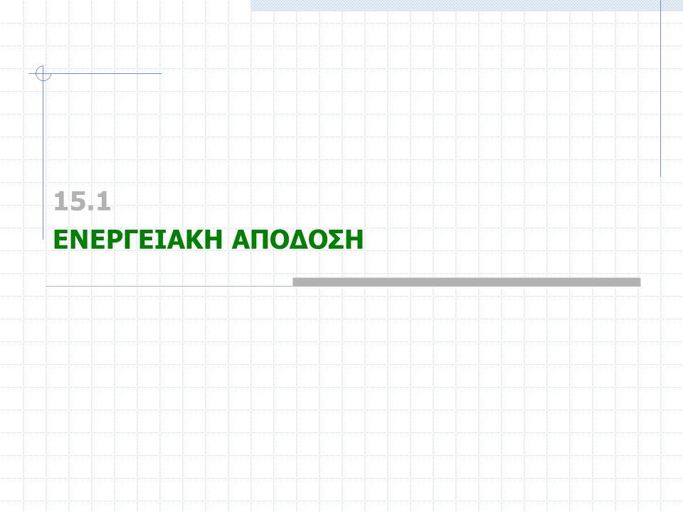 15.1 ΕΝΕΡΓΕΙΑΚΗ ΑΠΟΔΟΣΗ