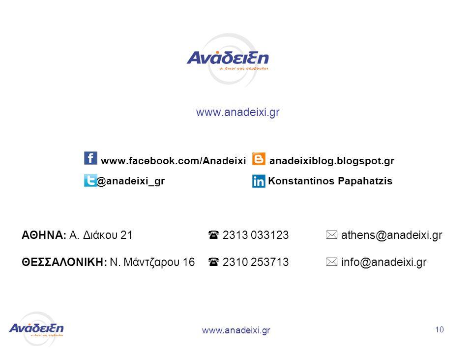 www.anadeixi.gr 10 www.facebook.com/Anadeixi anadeixiblog.blogspot.gr @anadeixi_gr Konstantinos Papahatzis ΑΘΗΝΑ: Α.