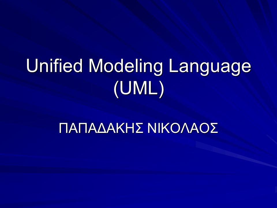 Unified Modeling Language (UML) ΠΑΠΑΔΑΚΗΣ ΝΙΚΟΛΑΟΣ