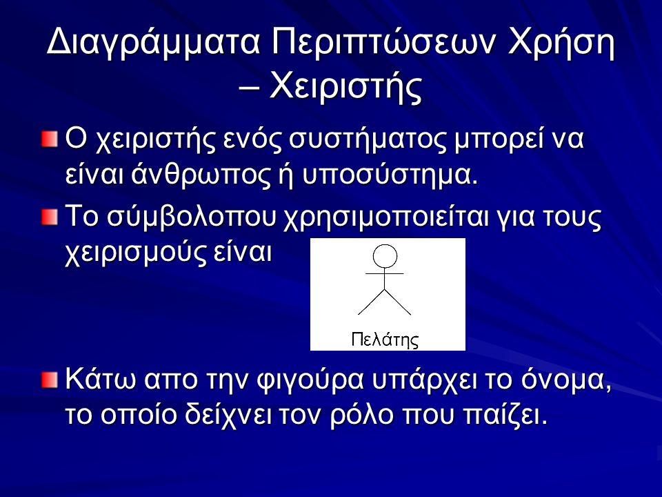 Εξαρτήσεις Οι εξαρτησεις συμβολίζονται με διακεκομένο βέλος.