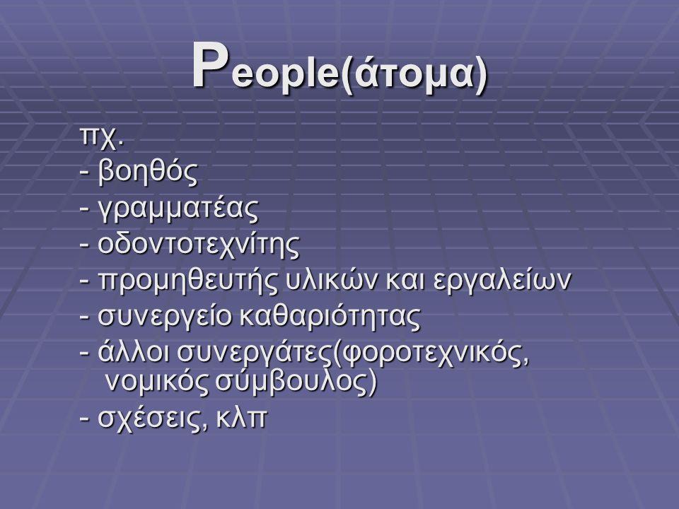 P eople(άτομα) πχ.