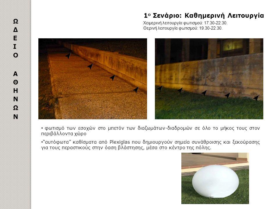 3 ο Σενάριο: Ασφαλείας Χειμερινή λειτουργία φωτισμού: 22.30-06.30.