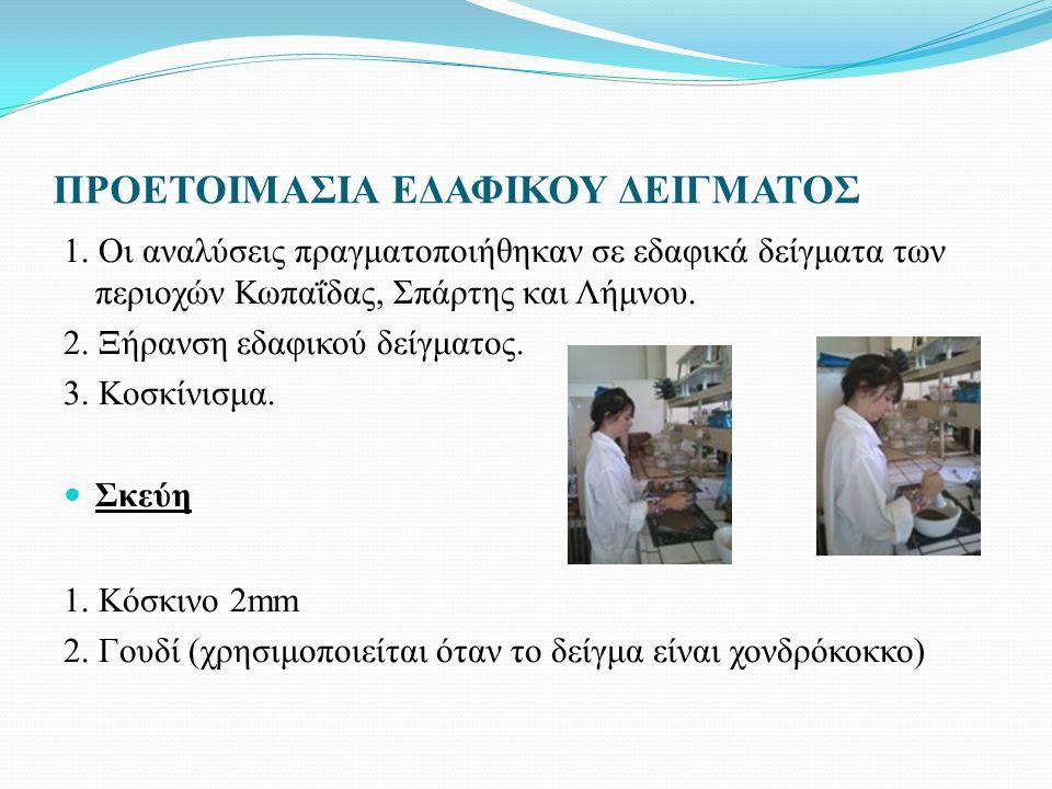 ΠΡΟΕΤΟΙΜΑΣΙΑ ΕΔΑΦΙΚΟΥ ΔΕΙΓΜΑΤΟΣ 1.