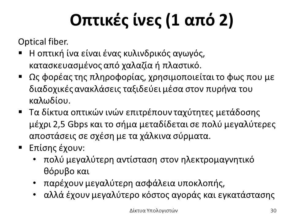Οπτικές ίνες (1 από 2) Optical fiber.