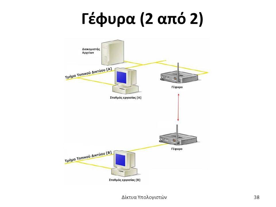 Γέφυρα (2 από 2) Δίκτυα Υπολογιστών 38