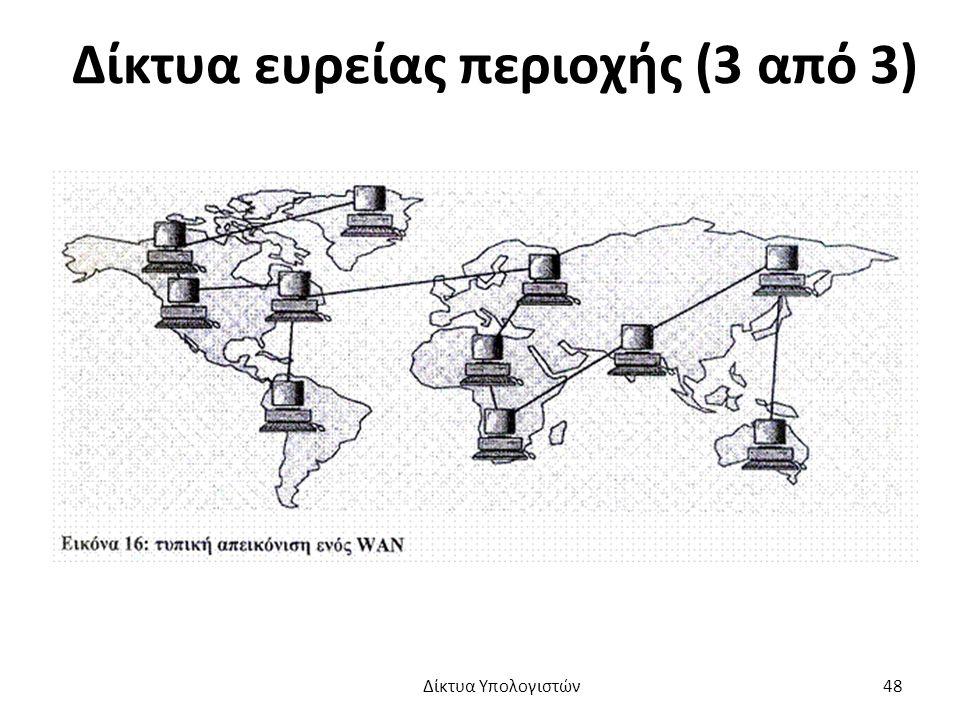 Δίκτυα ευρείας περιοχής (3 από 3) Δίκτυα Υπολογιστών 48