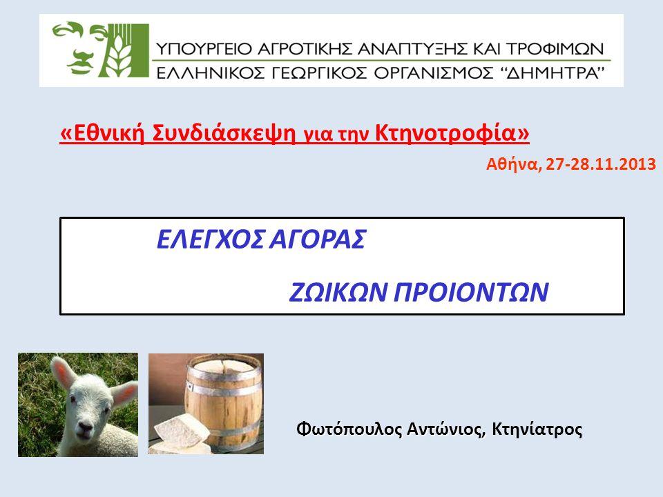 Ευχαριστώ για την προσοχή σας Φωτόπουλος Αντώνιος, Φωτόπουλος Αντώνιος, Κτηνίατρος Γενικός Διευθυντής Διασφάλισης Ποιότητας Αγροτικών Προϊόντων, ΕΛΓΟ - «ΔΗΜΗΤΡΑ»