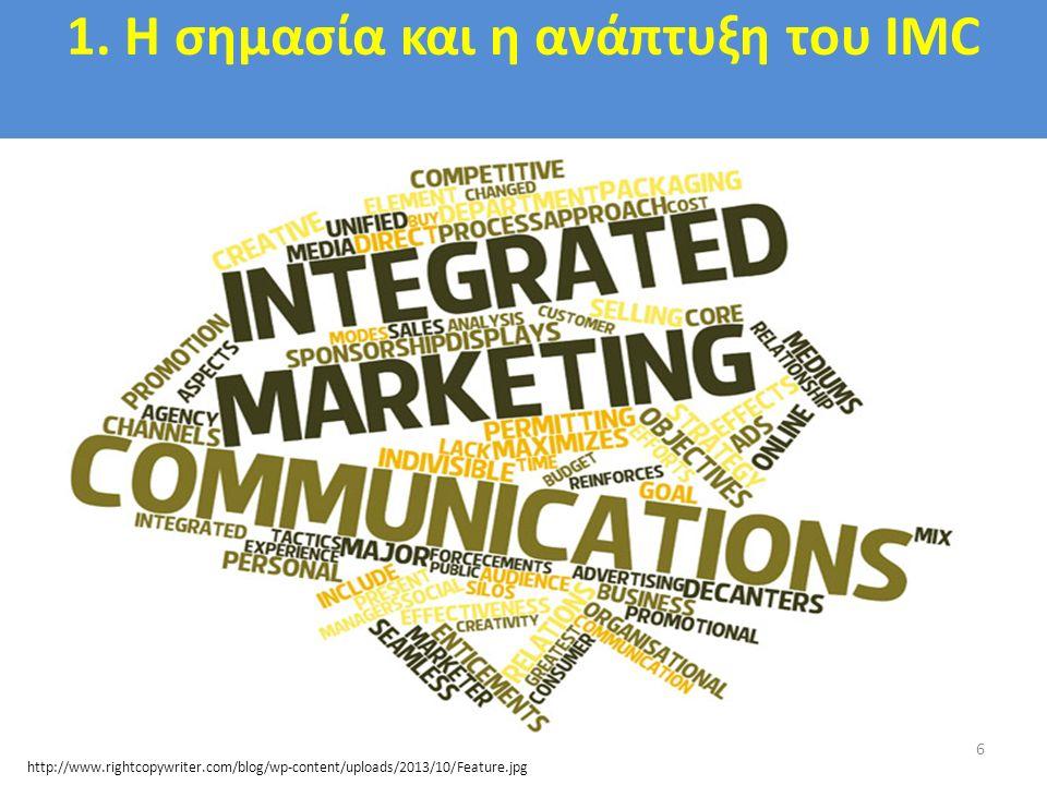 1. Η σημασία και η ανάπτυξη του IMC 6 http://www.rightcopywriter.com/blog/wp-content/uploads/2013/10/Feature.jpg