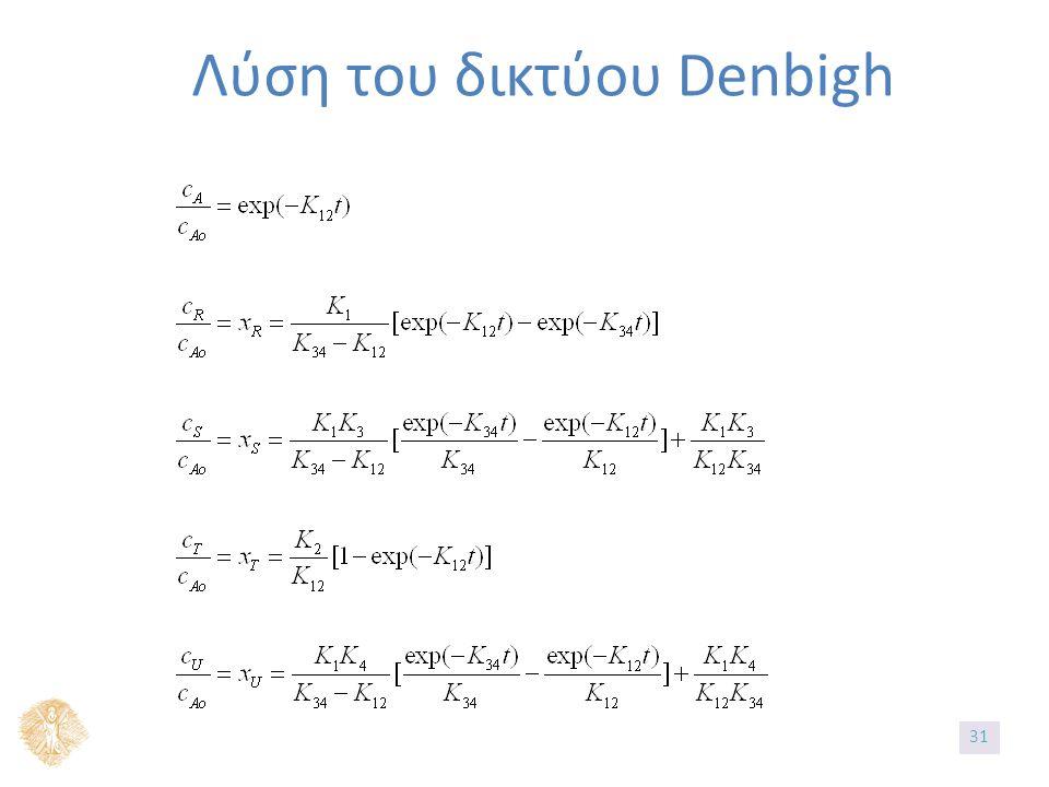 Λύση του δικτύου Denbigh 3131