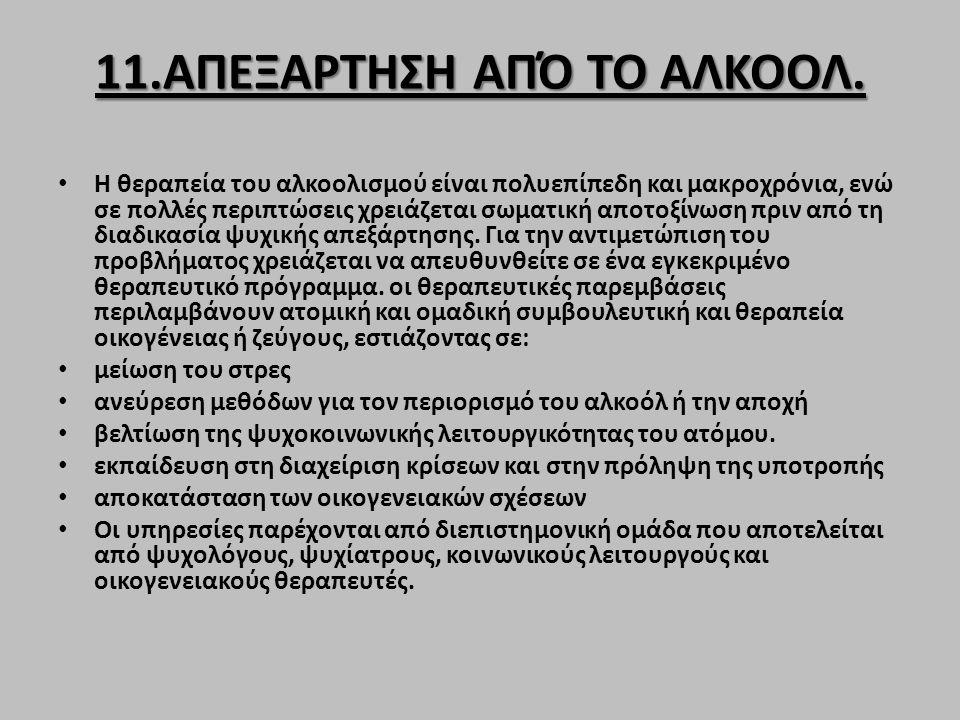 11.ΑΠΕΞΑΡΤΗΣΗ ΑΠΌ ΤΟ ΑΛΚΟΟΛ.